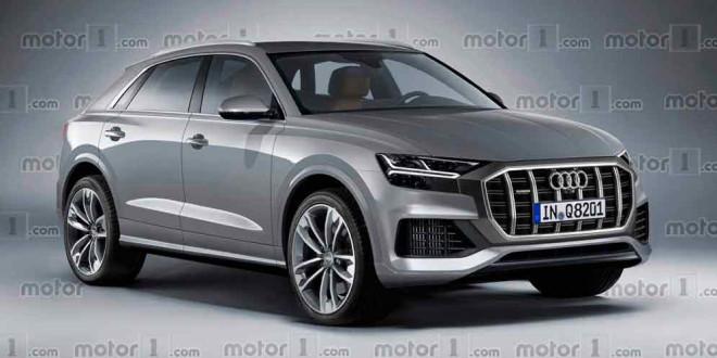 Серийный купе-кроссовер Audi Q8: неофициальный рендер