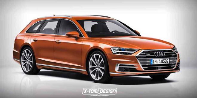 Дизайн Audi A8 Avant на неофициальном рендере