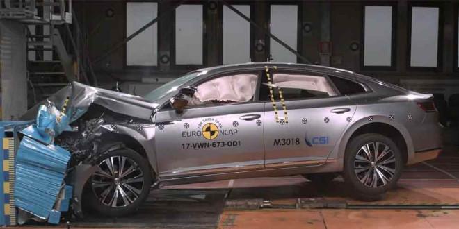 Volkswagen Arteon прошёл краш-тест Euro NCAP на 5 звёзд