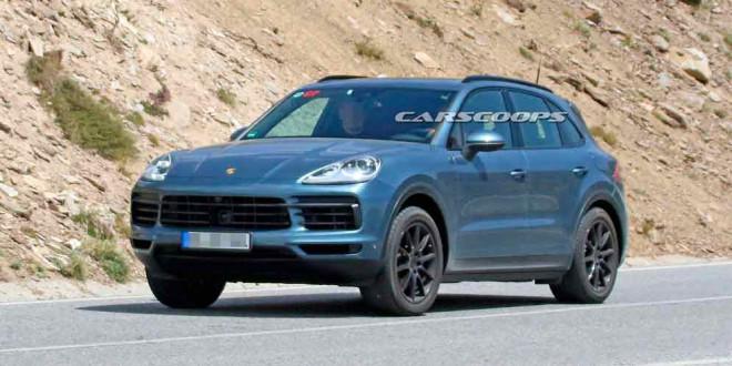 Незамаскированный 2018 Porsche Cayenne замечен на тестах