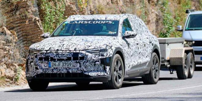 Электрокар Audi E-Tron Quattro впервые замечен на тестах