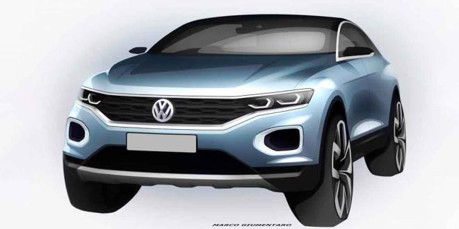 Volkswagen T-Roc на официальных скетчах перед премьерой