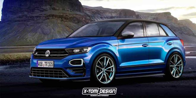 Горячий кроссовер Volkswagen T-Roc R: пока лишь виртуально