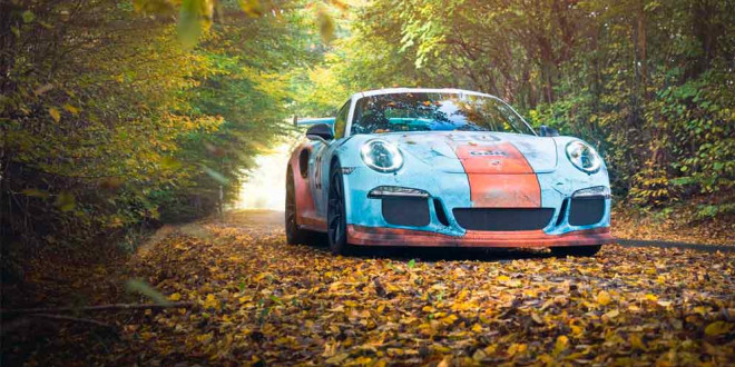 Porsche 911 GT3 RS с эффектом ржавчины на ливрее Gulf