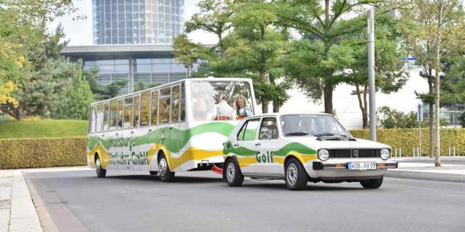 На дороги Вольфсбурга вернулся ретро-автобус Volkswagen Golf