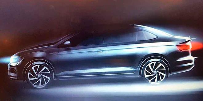 Первый тизер Volkswagen Virtus перед дебютом в январе