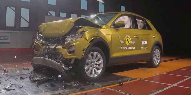 VW Polo и T-Roc набрали по 5 звёзд в краш-тесте Euro NCAP