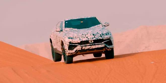 Lamborghini Urus покоряет дюны пустынь для промо-видео