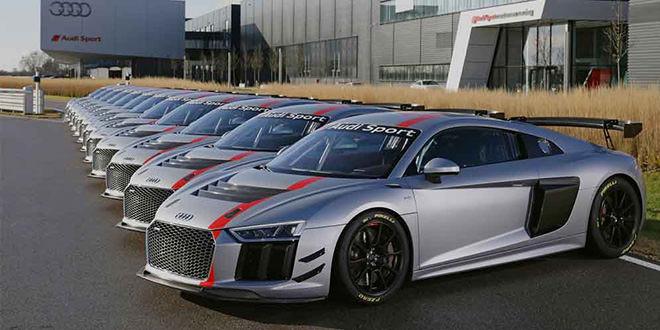 Отгружена первая партия гоночных Audi R8 LMS GT4