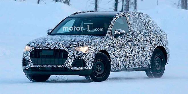 Следующая Audi Q3 проходит испытания в снегах
