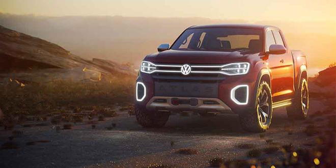 Новый VW Atlas Tanoak Pickup Concept показали в Нью-Йорке