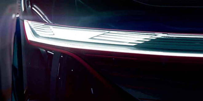 Volkswagen ID Vizzion сверкнул фарами перед премьерой в Женеве