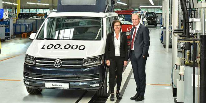 С конвейера сошёл 100 000-й кемпер Volkswagen California