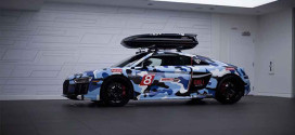 Audi R8 в камуфляж-виниле от PUR Wheels