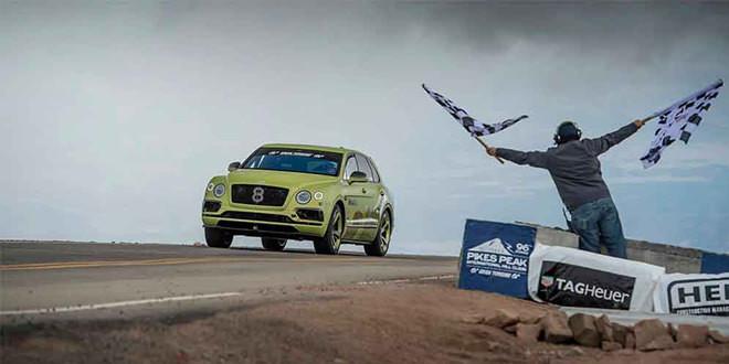 Bentley Bentayga — самый быстрый внедорожник гонки Пайкс-Пик