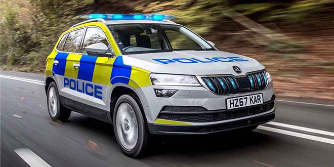 Полицейский Skoda Karoq взяли на службу в Британии