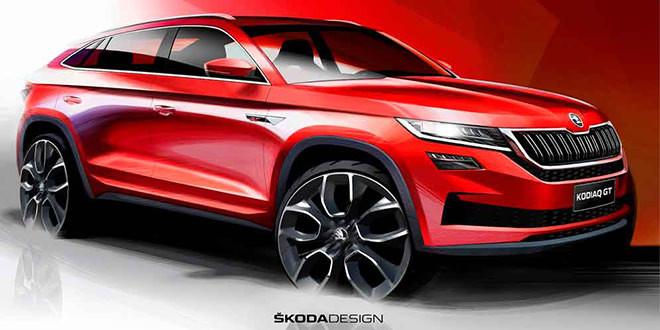 Skoda Kodiaq GT показали на тизерах как модель для Китая