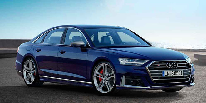 Заряжённый седан Audi S8 в новом поколении официально
