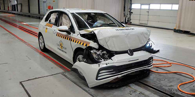 Новый Volkswagen Golf VIII прошёл краш-тест Euro NCAP на 5