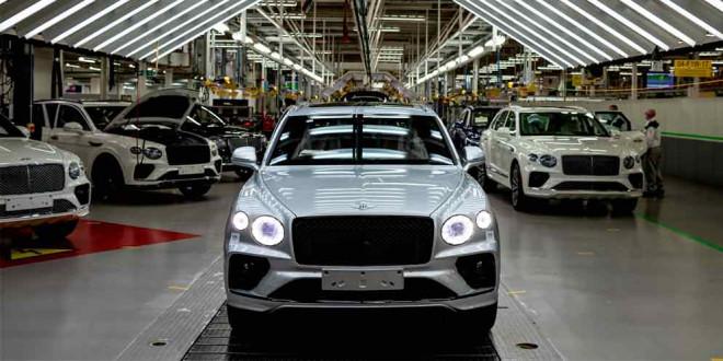 В Крю начали производство обновленного Bentley Bentayga
