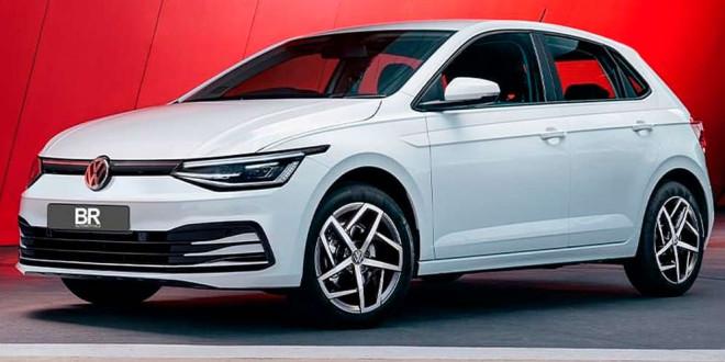 Возможный дизайн Volkswagen Polo с мордой нового VW Golf 8