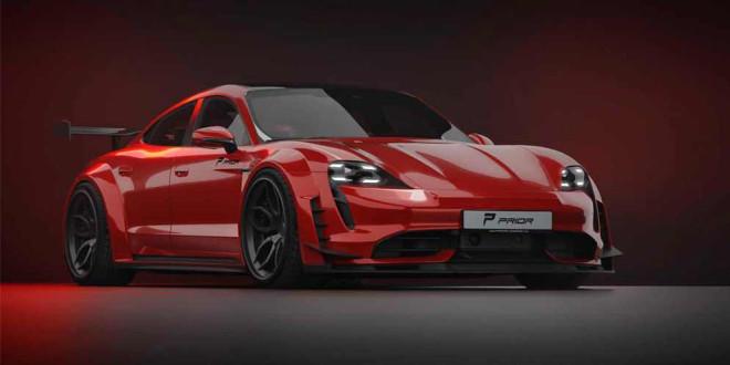 Тюнинг Porsche Taycan: обвес в стиле GT3 RS от Prior Design