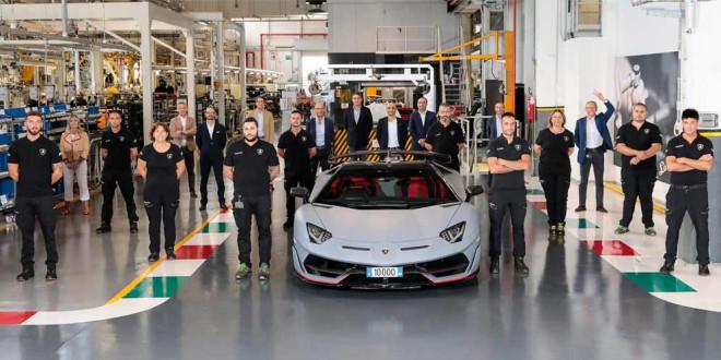 Производство Lamborghini: с конвейера сошёл 10 000-й Aventador