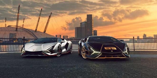 Сразу два Lamborghini Sian доставили покупателям в Лондон