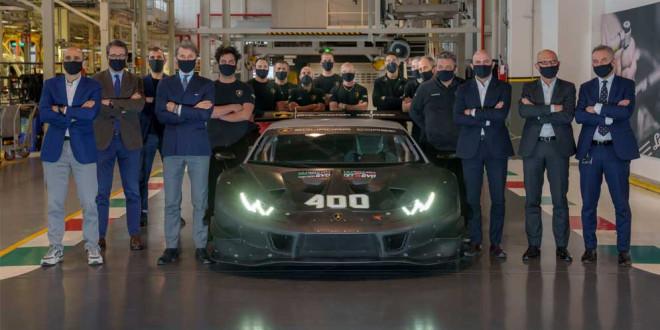 Lamborghini выпустила 400-й гоночный суперкар Huracan