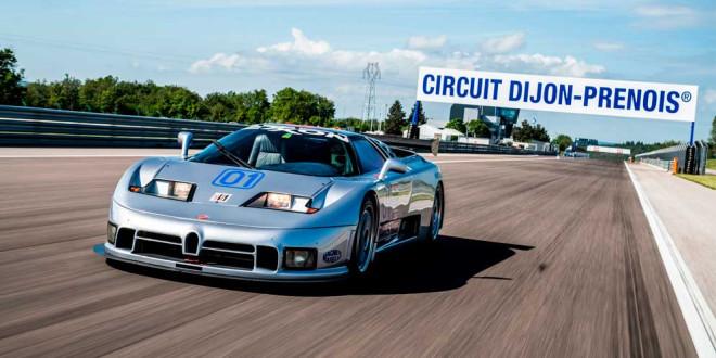 Старый Bugatti EB110 SC вернулся на гоночную трассу спустя 25 лет