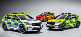 Skoda Enyaq IV подготовили для полиции, скорой и пожарной