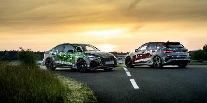 Новые хэтчбек и седан Audi RS3 2022 года раскрыли характеристики