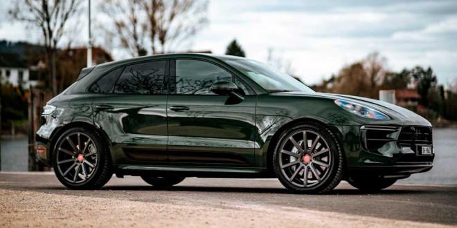 Зелёный Porsche Macan обули в 21-дюймовые колёса Cor.Speed