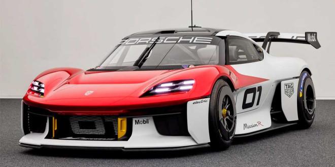 Новый Porsche Mission R вышел как гоночный болид на 1 088-сил