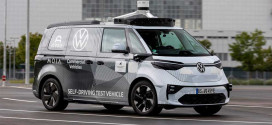 Автономный фургон Volkswagen ID. Buzz AD представили в Мюнхене