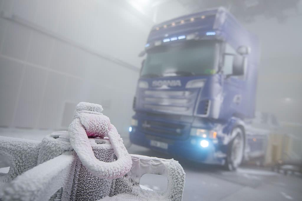 Климатические испытания Scania в Швеции