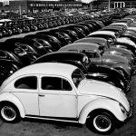 Новые VW Beetle на территории завода Volkswgaen