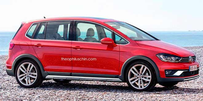 Рендер VW Golf Sportsvan Alltrack