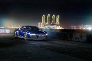 Audi R8 ночью