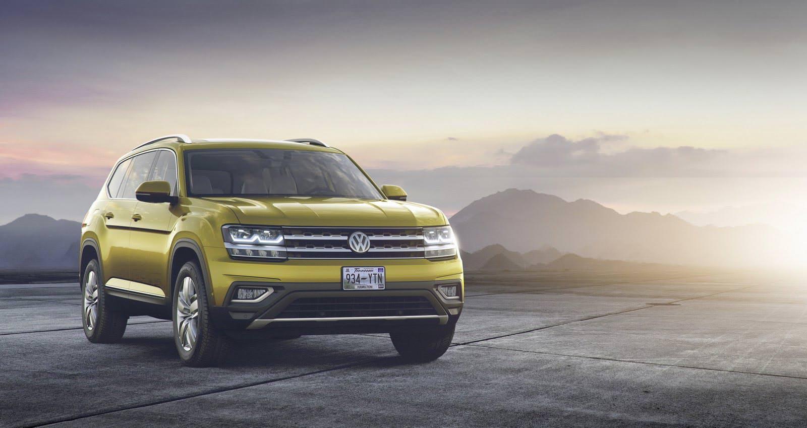 Семиместный кроссовер Volkswagen Atlas 2017