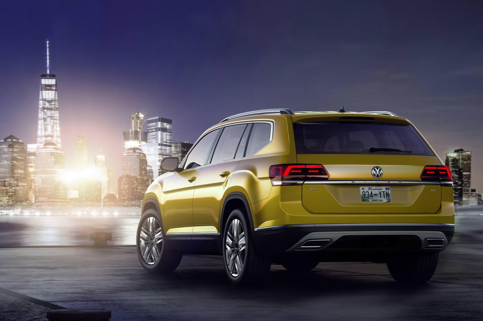 Семиместный кроссовер Volkswagen Atlas в Нью-Йорке