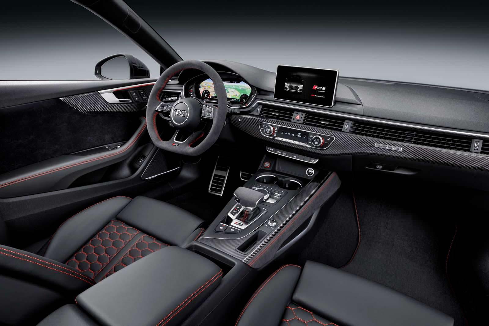 Салон Ауди РС5 Купе нового поколения