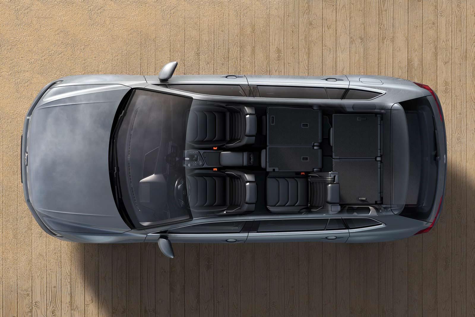 Семиместный салон VW Tiguan Allspace