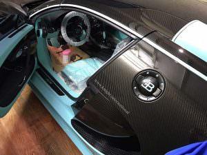 Салон Bugatti Veyron Tiffany Edition в клеенке