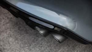 Сдвоенные выхлопные трубы от TechArt на Porsche Panamera
