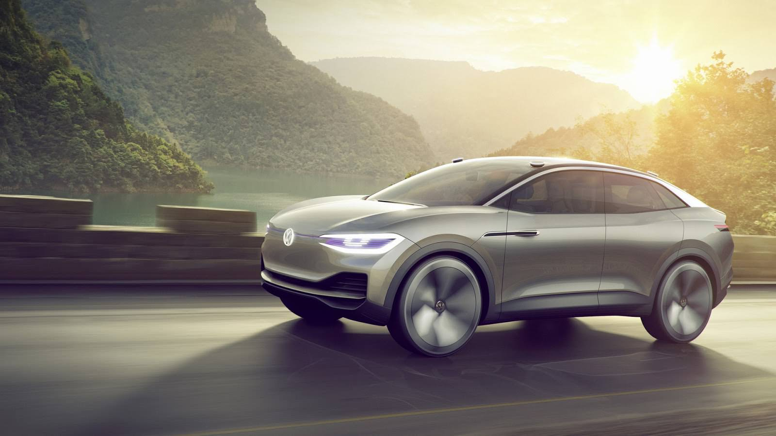 Прототип с автопилотом Volkswagen I.D. Crozz 2017 года
