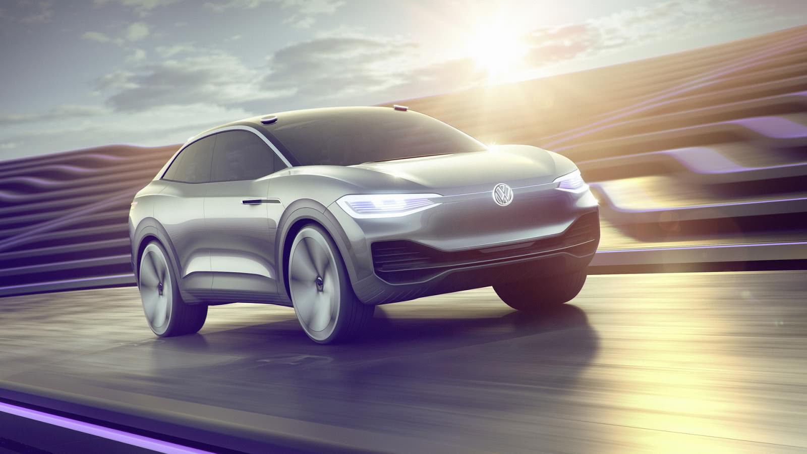 Электрический прототип автопилотом Volkswagen I.D. Crozz