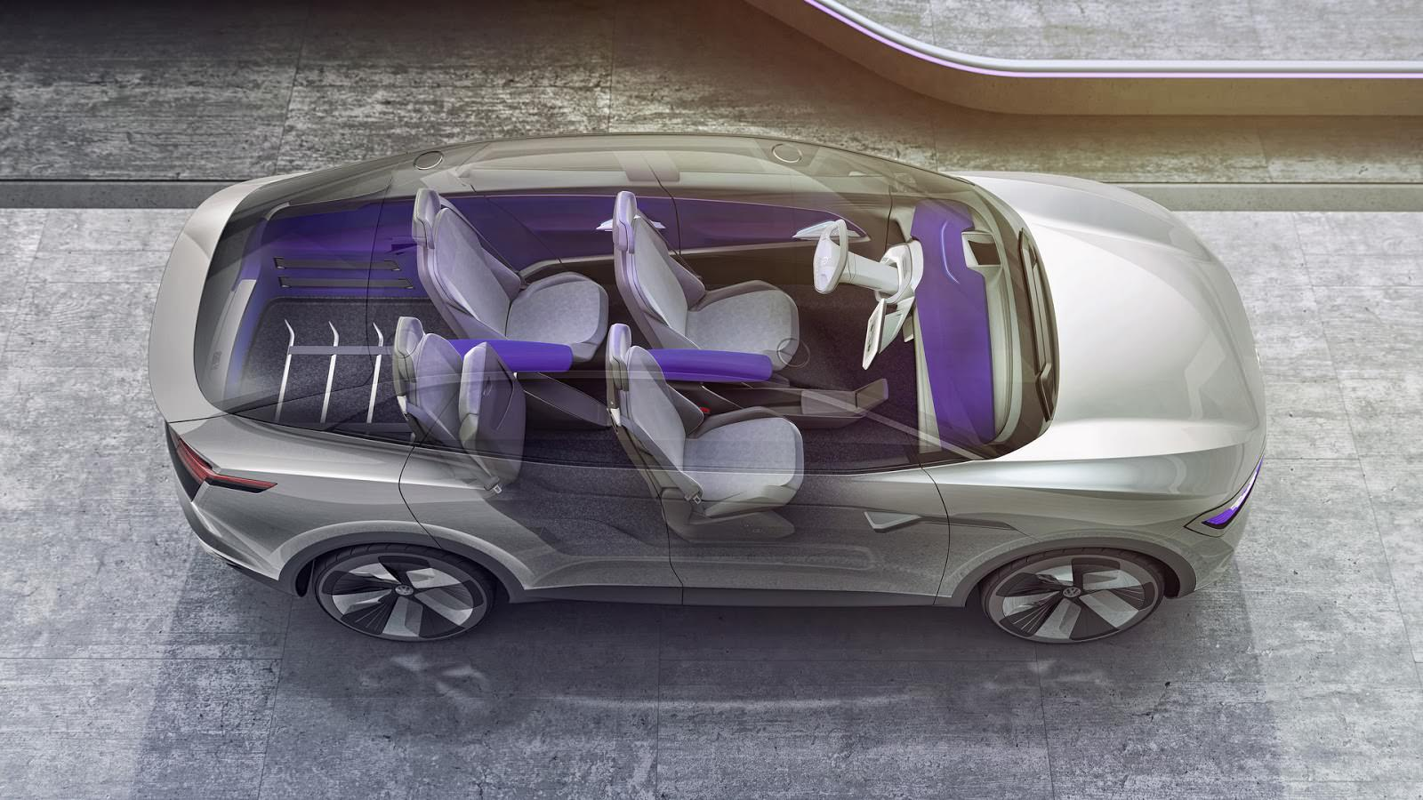 Конфигурация салона Volkswagen I.D. Crozz Concept 2017
