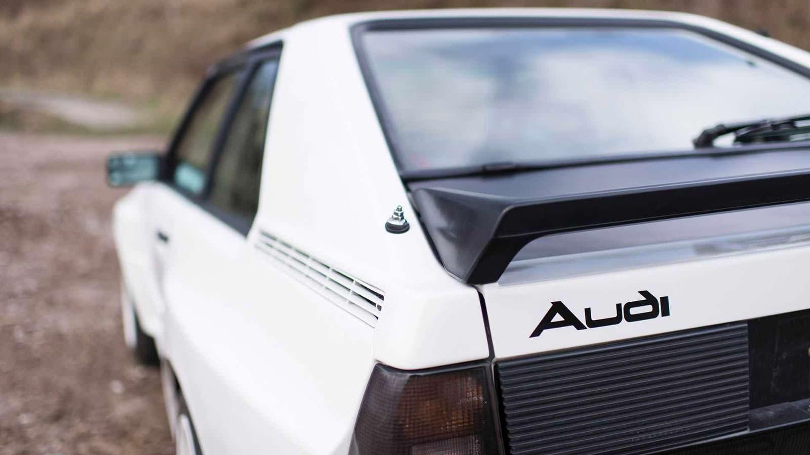 Черный спойлер Audi Sport Quattro 1984 года выпуска