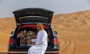Соколиная охота на Ближнем Востоке с Bentley Bentayga